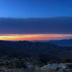 Sunrise over the Salton Sea from Keys View